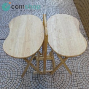 Folding solid wood tables