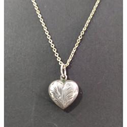 Fio c/ Coração em Prata